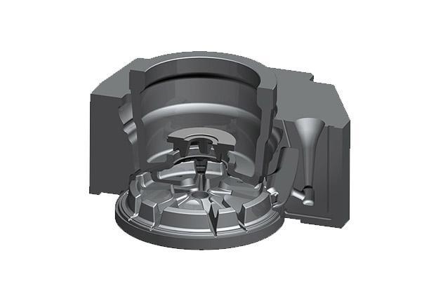 重力铸造轮毂模具
